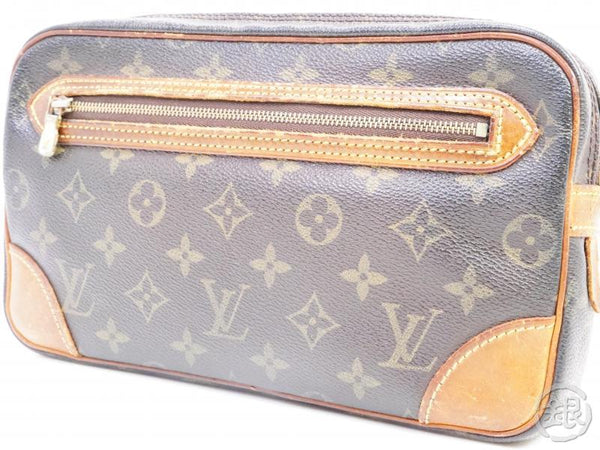 AUTHENTIC PRE-OWNED LOUIS VUITTON MONOGRAM POCHETTE MARLY DRAGONNE GM CLUTCH BAG M51825 190954