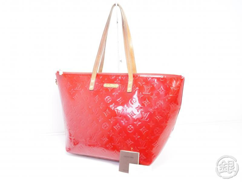AUTHENTIC PRE-OWNED LOUIS VUITTON VERNIS POMME D'AMOUR BELLEVUE GM HAND TOTE BAG M93587 190866