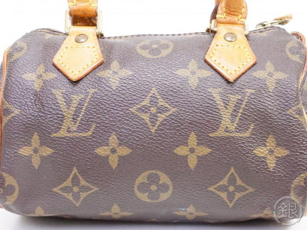 AUTHENTIC PRE-OWNED LOUIS VUITTON MONOGRAM MINI SPEEDY HAND BAG PURSE POUCH M41534 191122
