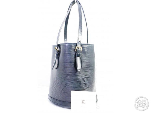 AUTHENTIC PRE-OWNED LOUIS VUITTON SPECIAL ORDERED EPI BLACK PETIT BUCKET PM TOTE BAG M58992 191051