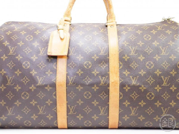 AUTHENTIC PRE-OWNED LOUIS VUITTON MONOGRAM KEEPALL 50 LARGE TRAVELING BAG DUFFLE BAG M41426 190971