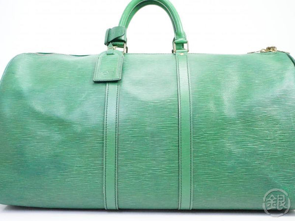 AUTHENTIC PRE-OWNED LOUIS VUITTON EPI BORNEO GREEN KEEPALL 55 LARGE TRAVEL DUFFLE BAG M42954 191101