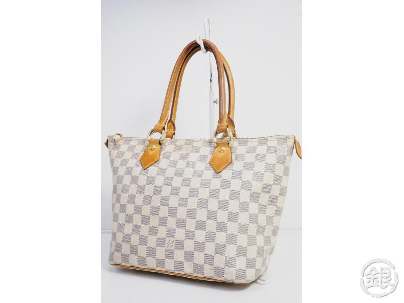 AUTHENTIC PRE-OWNED LOUIS VUITTON DAMIER AZUR SALEYA PM SHOULDER TOTE BAG N51186 190612