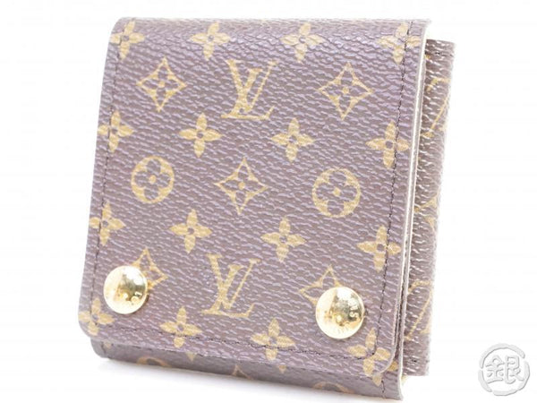 authentic pre-owned louis vuitton monogram portable jewelry holder case limited goods 190617