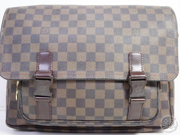 AUTHENTIC PRE-OWNED LOUIS VUITTON DAMIER EBENE MESSENGER MELVILLE CROSSBODY BAG N51125 191161