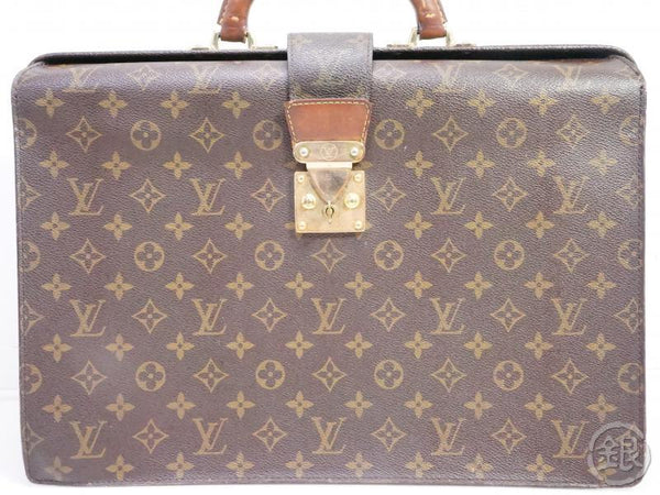 AUTHENTIC PRE-OWNED LOUIS VUITTON MONOGRAM SERVIETTE FERMOIR BRIEFCASE HAND BAG M53305 190579