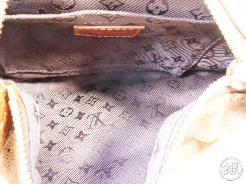 authentic pre-owned louis vuitton monogram suede cacao brown onatah pm mini hobo m95123 190584