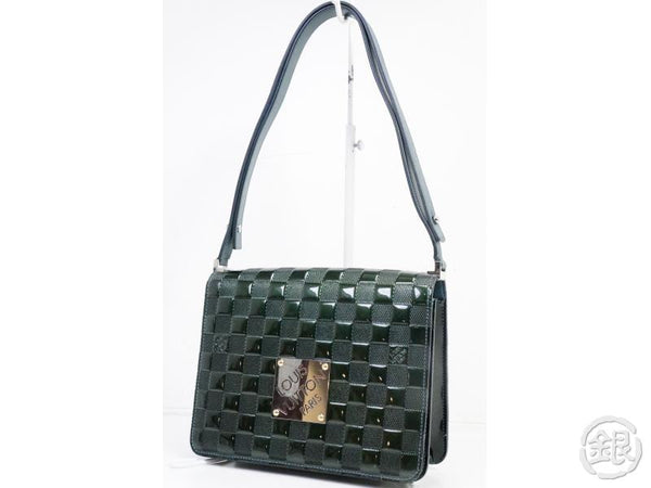 AUTHENTIC PRE-OWNED LOUIS VUITTON DAMIER VERNIS PETROL BLUE CABARET 2-LENGTH BAG M92125 190636
