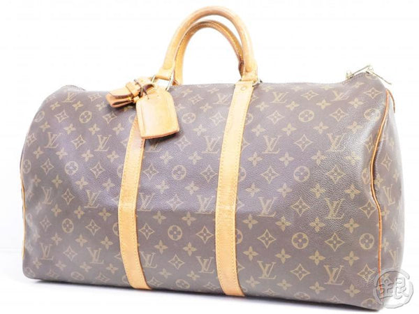 AUTHENTIC PRE-OWNED LOUIS VUITTON MONOGRAM KEEPALL 50 LARGE TRAVELING BAG DUFFLE BAG M41426 190603