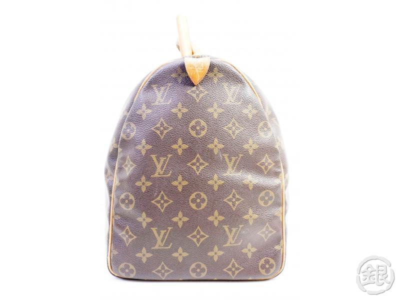 authentic pre-owned louis vuitton monogram keepall 45 traveling duffle hand bag m41428 190637