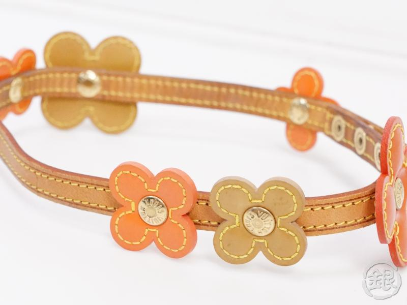 AUTHENTIC PRE-OWNED LOUIS VUITTON VERNIS ORANGE FLOWER LEXINGTON BRACELET M92251 190877