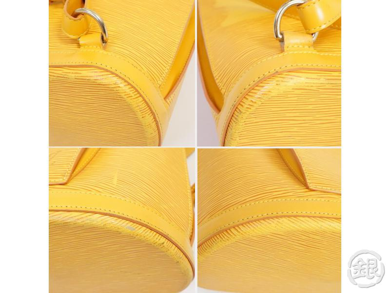 authentic pre-owned louis vuitton lv epi tassili yellow gobelins backpack bag purse m52299 191024