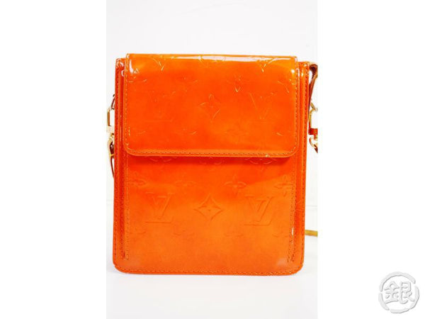AUTHENTIC PRE-OWNED LOUIS VUITTON LIMITED COLOR VERNIS ORANGE MOTT SHOULDER BAG M91026 191041