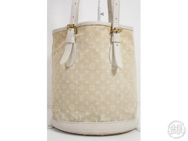 AUTHENTIC PRE-OWNED LOUIS VUITTON MONOGRAM MINI LIN DUNE PETIT BUCKET TOTE BAG POUCH M95316 191031