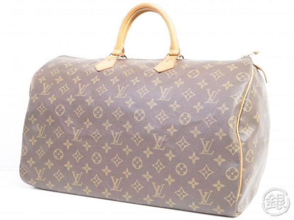 authentic pre-owned louis vuitton speedy 40 monogram duffle hand bag purse m41522 m41106 191104