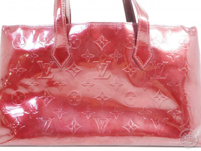 AUTHENTIC PRE-OWNED LOUIS VUITTON VERNIS AMARANTE WILSHIRE BOULEVARD PM HAND TOTE BAG M93641 191014