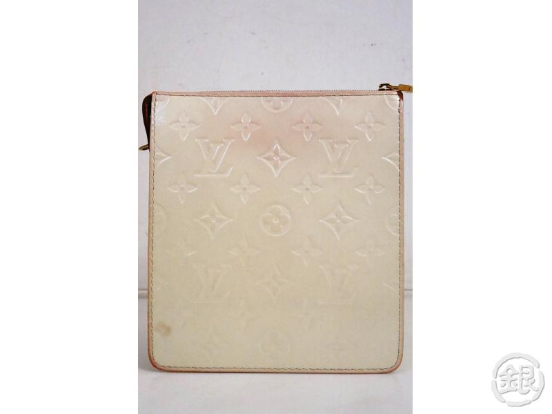 AUTHENTIC PRE-OWNED LOUIS VUITTON VERNIS PERLE MOTT SHOULDER BAG EVENING PURSE M91339 191238