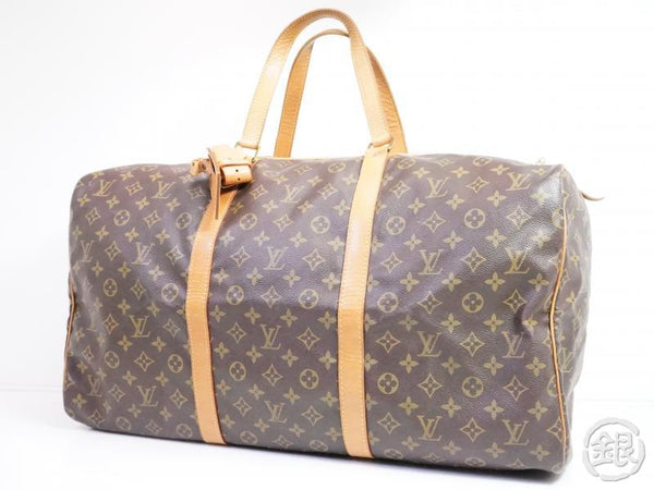 AUTHENTIC PRE-OWNED LOUIS VUITTON VINTAGE MONOGRAM SAC SOUPLE 55 TRAVELING DUFFLE BAG M41622 190921