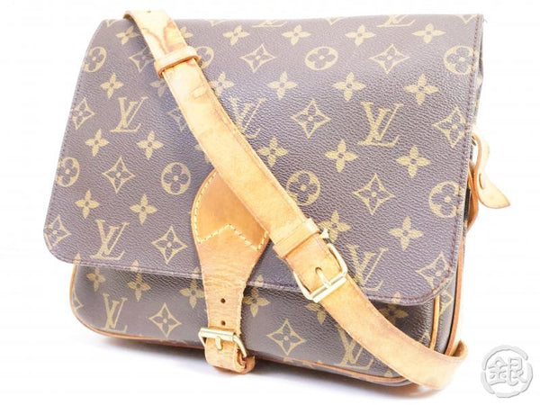 authentic pre-owned louis vuitton monogram cartouchiere gm crossbody messenger bag m51252 191316