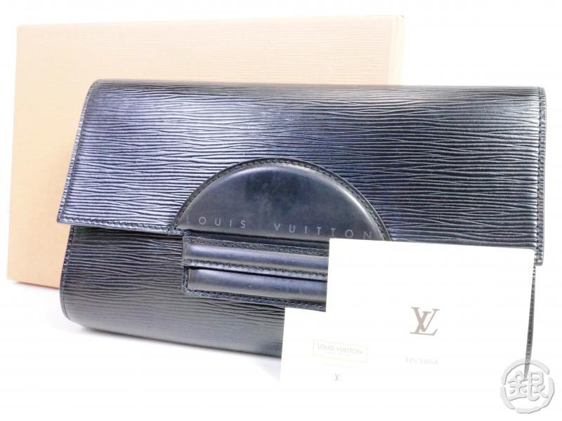 AUTHENTIC PRE-OWNED LOUIS VUITTON EPI BLACK NOIR POCHETTE CHAILLOT EVENING CLUTCH BAG M52542 191311