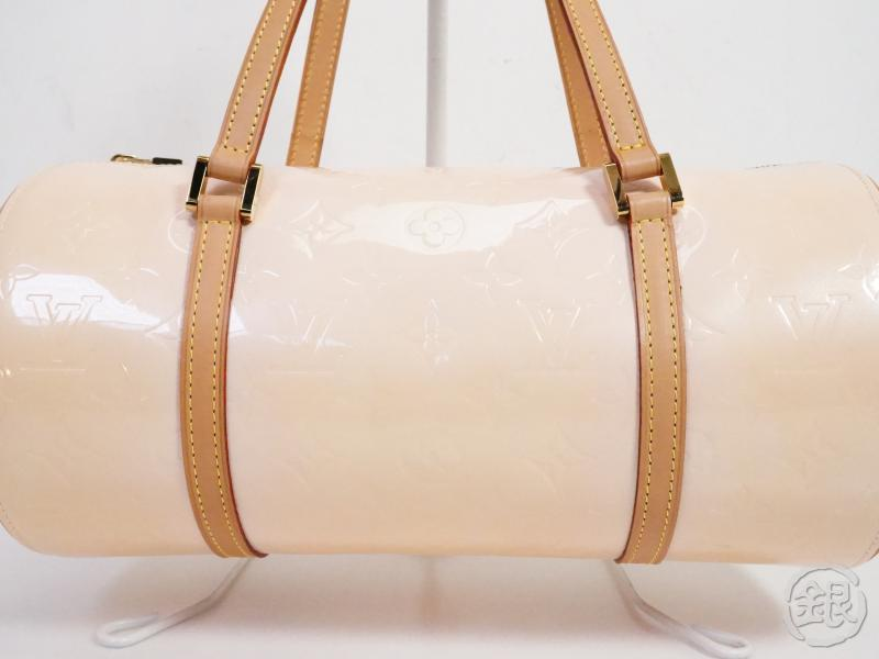 AUTHENTIC PRE-OWNED LOUIS VUITTON LV VERNIS MARSHMALLOW PINK BEDFORD BARREL BAG PURSE M91308 191268