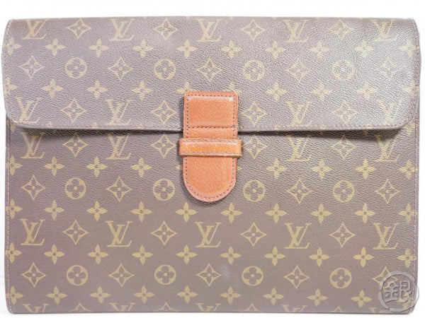 AUTHENTIC PRE-OWNED LOUIS VUITTON MONOGRAM VINTAGE POCHE MINISTRE DOCUMENT CASE No.54 M53445 191342