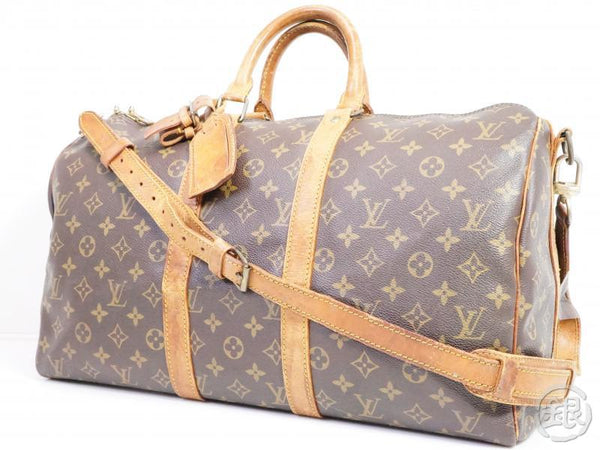 authentic pre-owned louis vuitton vintage monogram keepall bandouliere 45 duffle bag m41418