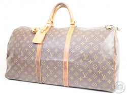 authentic pre-owned louis vuitton vintage monogram keepall 60 traveling bag duffle m41422 191194
