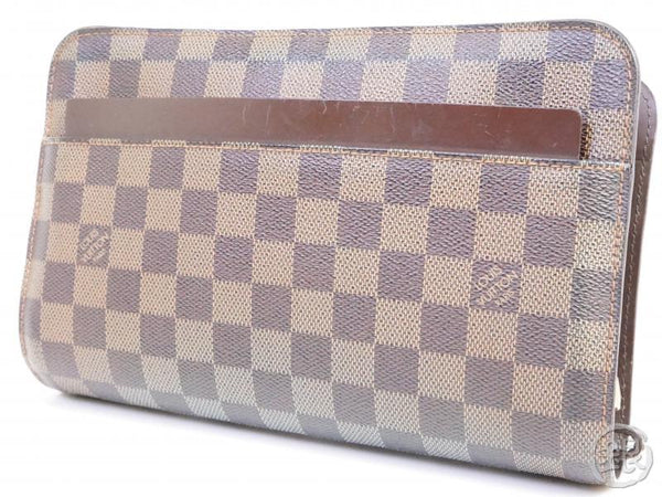 AUTHENTIC PRE-OWNED LOUIS VUITTON DAMIER EBENE SAINT LOUIS CLUTCH BAG POUCH N51993 191387