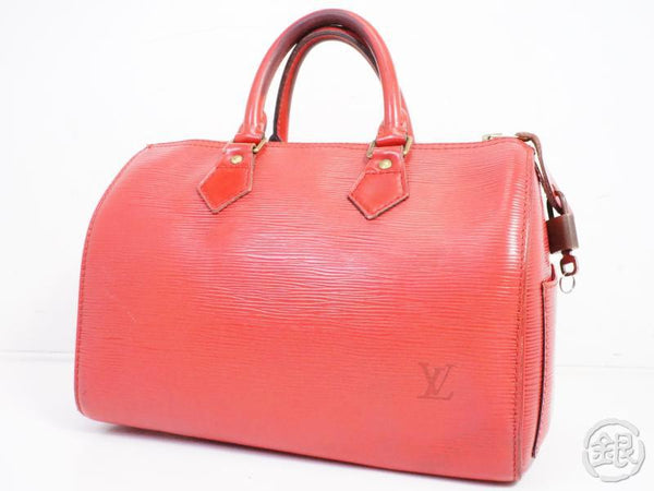 authentic pre-owned louis vuitton epi red rouge speedy 25 boston hand bag purse m43017 191363