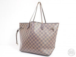 AUTHENTIC PRE-OWNED LOUIS VUITTON DAMIER EBENE NEVERFULL MM SHOULDER TOTE BAG N41358 191359
