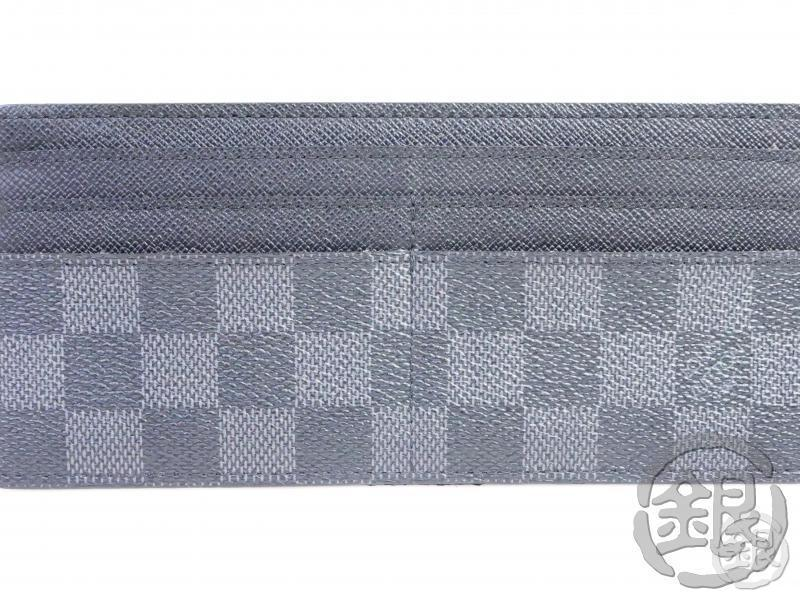 AUTHENTIC PRE-OWNED LOUIS VUITTON DAMIER GRAFITTE PORTEFEUILLE LON MODULABLE CARD CASE N63084 191473