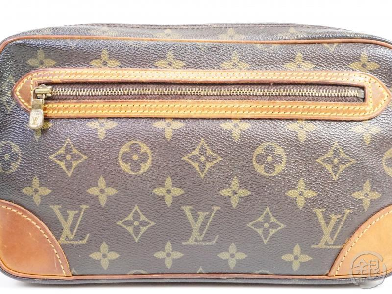 AUTHENTIC PRE-OWNED LOUIS VUITTON MONOGRAM POCHETTE MARLY DRAGONNE GM CLUTCH BAG M51825 190457