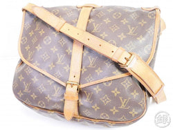 authentic pre-owned louis vuitton lv monogram saumur 35 messenger crossbody bag m42254 191460