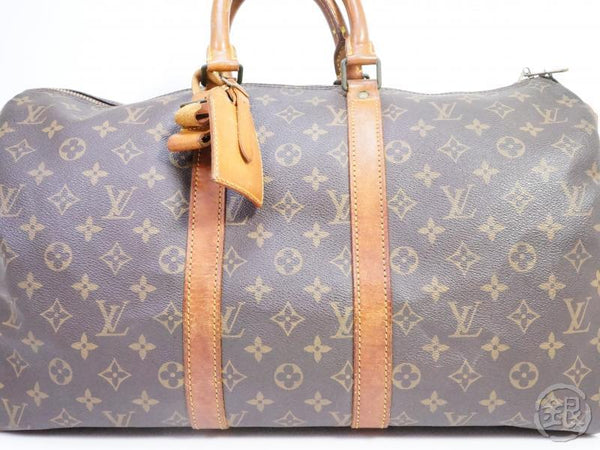 AUTHENTIC PRE-OWNED LOUIS VUITTON VINTAGE MONOGRAM KEEPALL BANDOULIERE 45 DUFFLE BAG M41418 191446