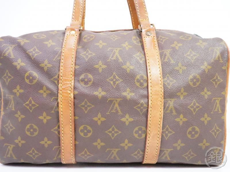 authentic pre-owned louis vuitton vintage monogram sac souple 35 traveling duffle bag m41626 191008