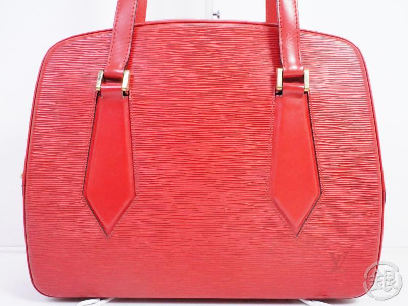 AUTHENTIC PRE-OWNED LOUIS VUITTON EPI ROUGE CASTILLAN RED VOLTAIRE SHOULDER TOTE BAG M52437 191306