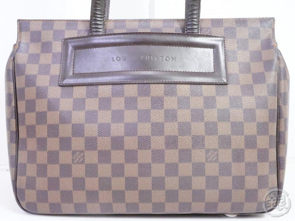 authentic pre-owned louis vuitton lv damier ebene parioli pm shoulder tote bag n51123 191456