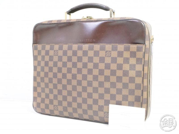 authentic pre-owned louis vuitton damier porte ordinateur sabana document pc case bag n53355 191303