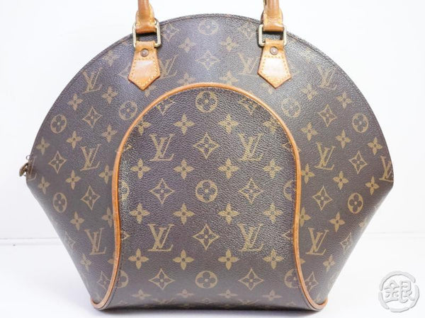 authentic pre-owned louis vuitton monogram ellipse mm large hand bag purse m51126 191410