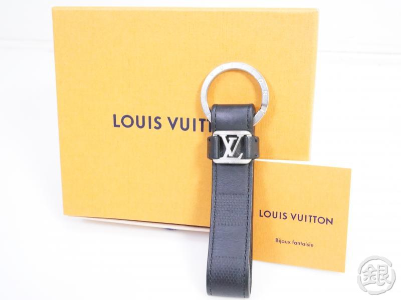 AUTHENTIC PRE-OWNED LOUIS VUITTON DAMIER ANFINI DRAGONNE KEY RING METAL LOGO M62710 191218
