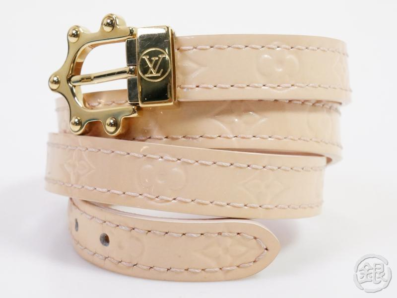 authentic pre-owned louis vuitton vernis beige bracelet triple tours bracelet m91403 191451