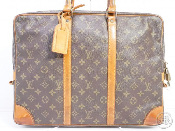 authentic pre-owned louis vuitton monogram vintage porte-documents voyage hand bag m53361 191510