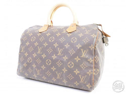 authentic pre-owned louis vuitton monogram speedy 30 hand bag purse duffle m41526 m41108 191513