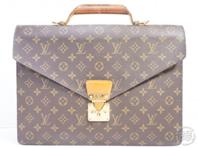 authentic pre-owned louis vuitton monogram vintage serviette conseiller briefcase m53331 191506