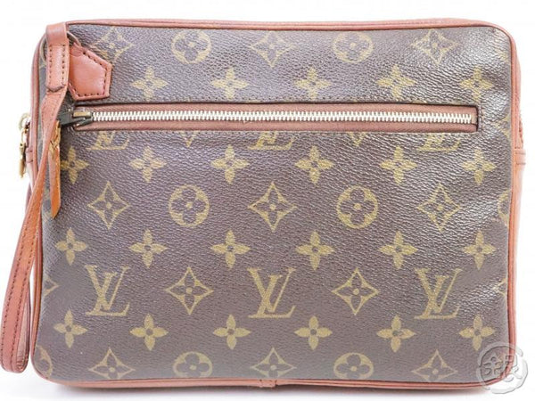 authentic pre-owned louis vuitton vintage monogram pochette sport clutch bag no.183 191516