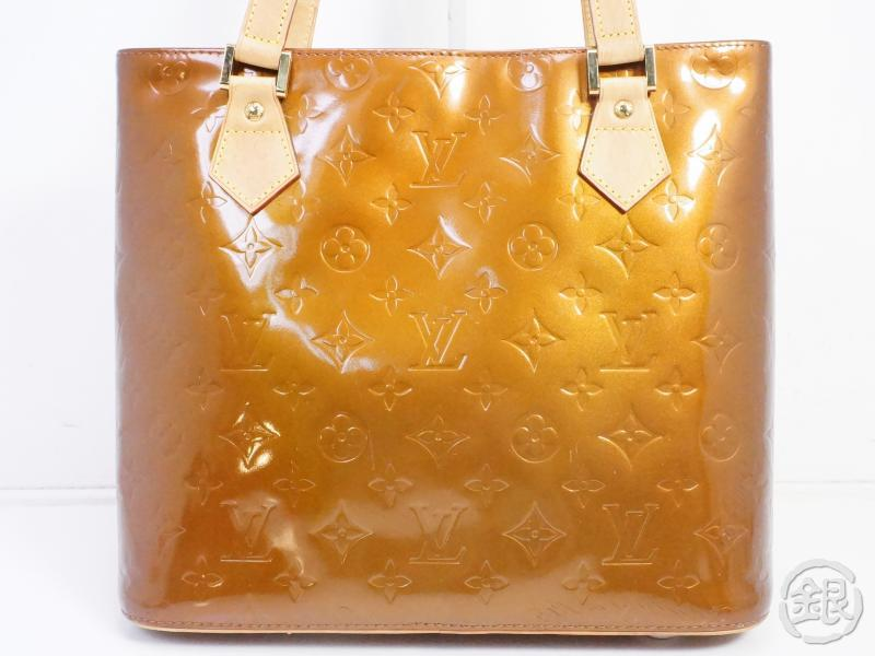authentic pre-owned louis vuitton vernis bronze houston shoulder tote bag purse m91122 191412