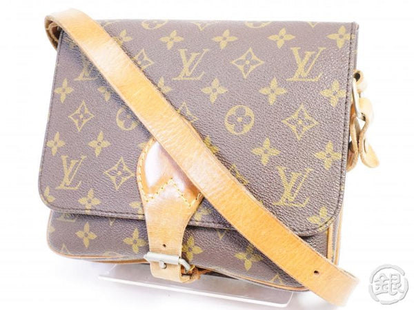authentic pre-owned louis vuitton monogram vintage cartouchiere gm crossbody bag m51252 191490
