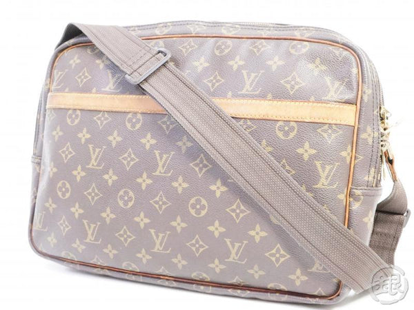 authentic pre-owned louis vuitton monogram reporter gm compartment messenger bag m45252 191487