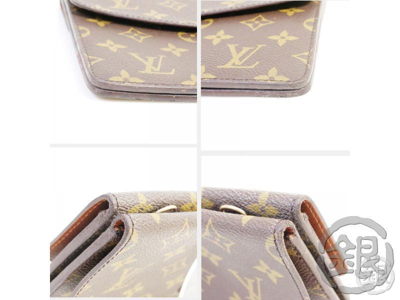 authentic pre-owned louis vuitton monogram vintage pochette double rabat clutch m51815 no.236 191598
